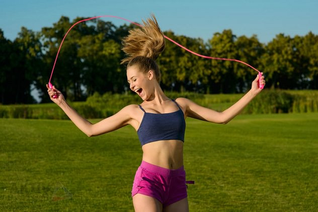 Jumping rope will help shrink your calves
