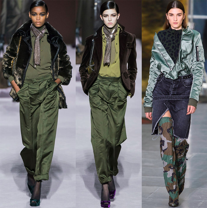 Military and camouflage in women's fashion