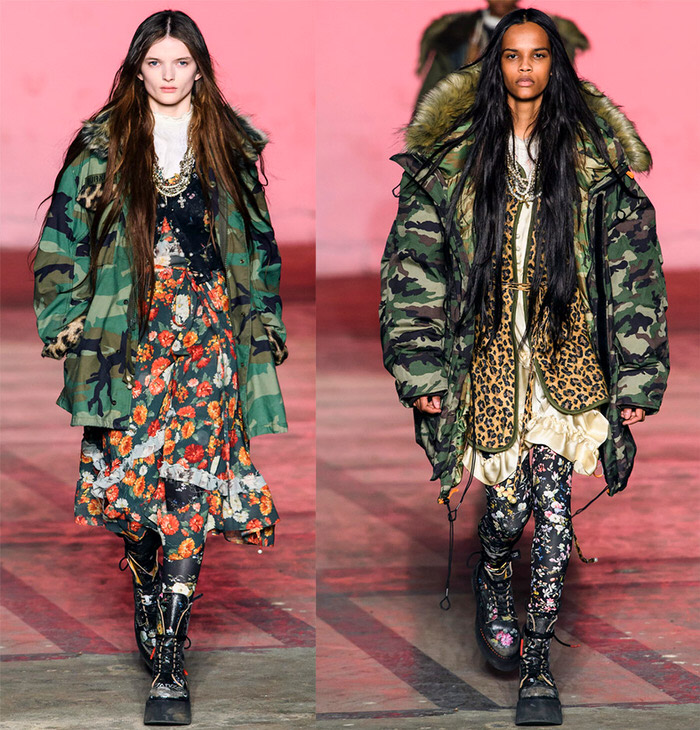 camouflage in women's fashion