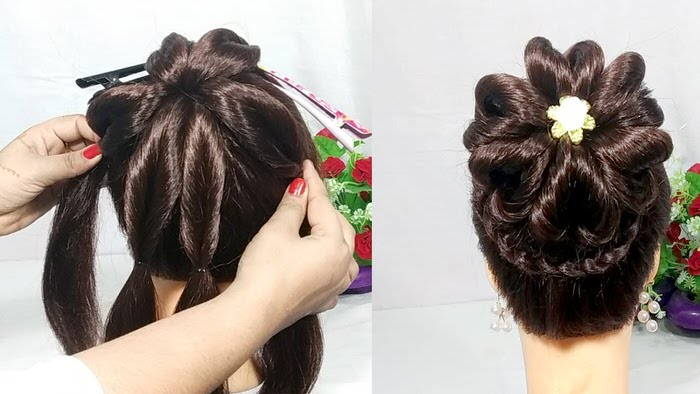 Heart Bun hairstyles with trick | wedding hairstyle | hair style girl | easy hairstyles | hairstyles