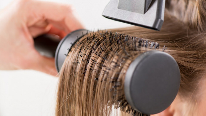 Ideal for short hair.  How to use a hair dryer on your own