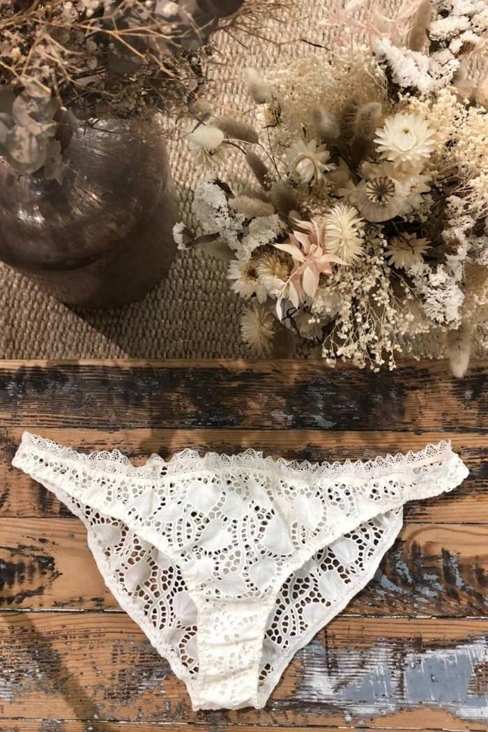 Laure de Sagazan creates her first lingerie collection from scraps of lace