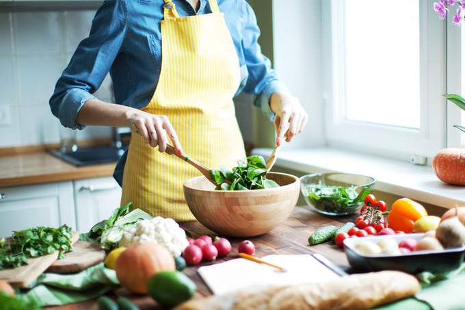 We favor homemade and basic foods