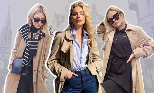 Oversized, maxi length and beige color: choosing the perfect trench coat like Elsa Hosk for cool weather