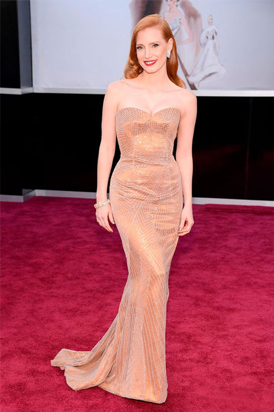 10 most beautiful dress stars at the Academy Awards