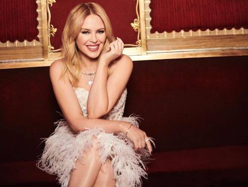 52-year-old Kylie Minogue showed what accessories you can wear a little black dress