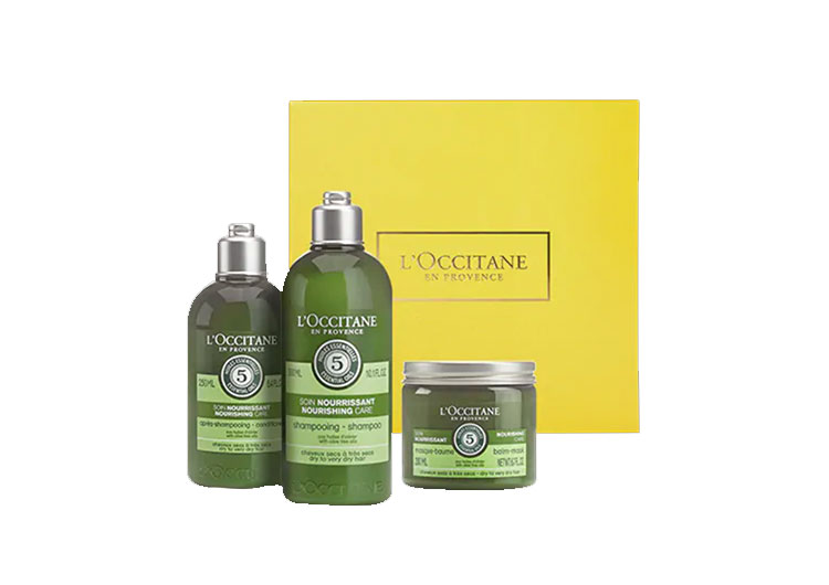 """Set of shampoo, conditioner and hair mask """"Aromacology"""", L 'THEccitane"""