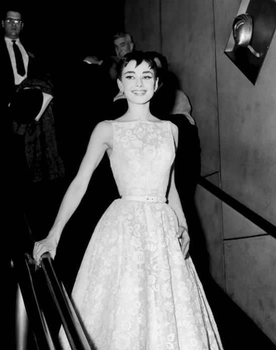 Audrey Hepburn in Givenchy dress at the Oscars