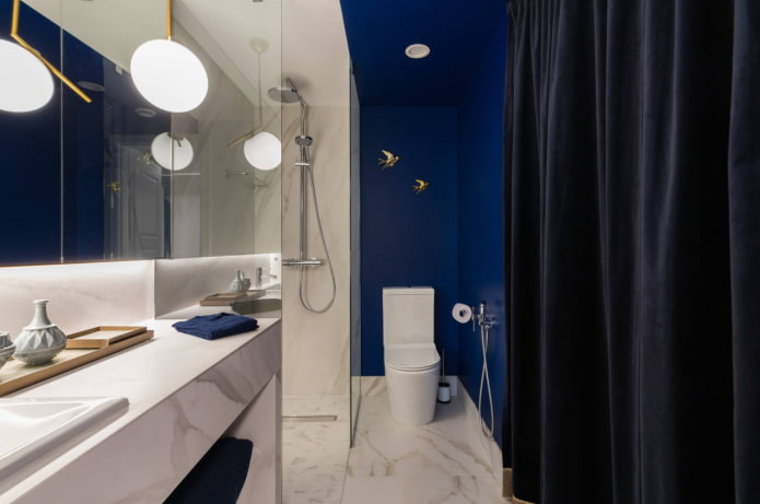 blue in the bathroom