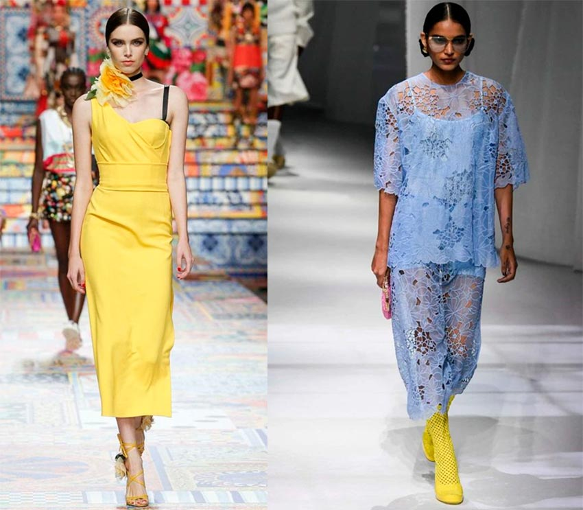 Yellow is in fashion