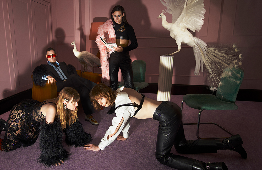 Leather, feathers and sequins: Måneskin musicians are heroes of the Gucci campaign (photo 3)