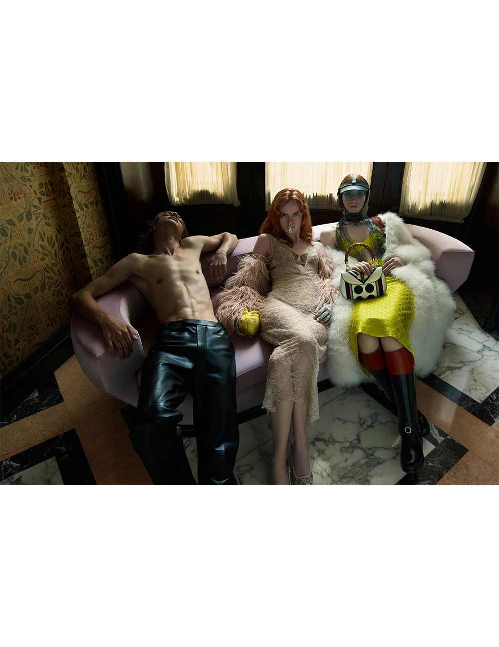 Leather, feathers and sequins: Måneskin musicians are heroes of the Gucci campaign (photo 19)