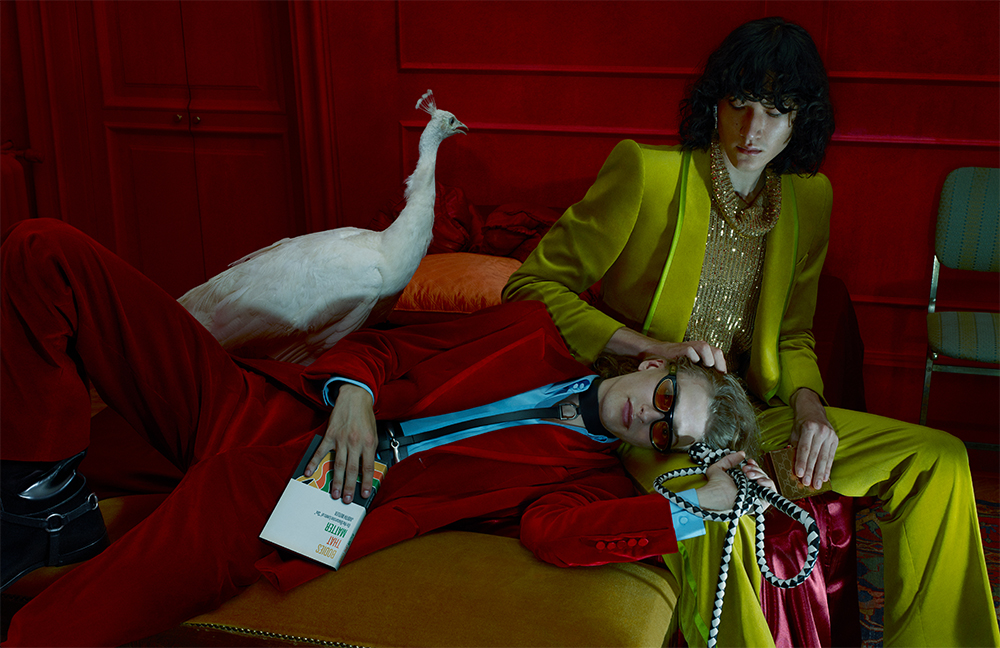 Leather, feathers and sequins: Måneskin musicians are heroes of the Gucci campaign (photo 1)